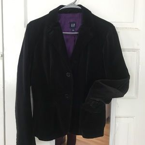Gap velour holiday blazer jacket